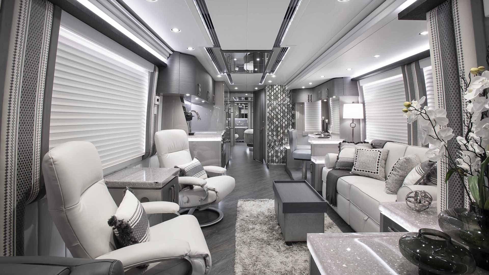 interior photo of elegant lady luxry rv