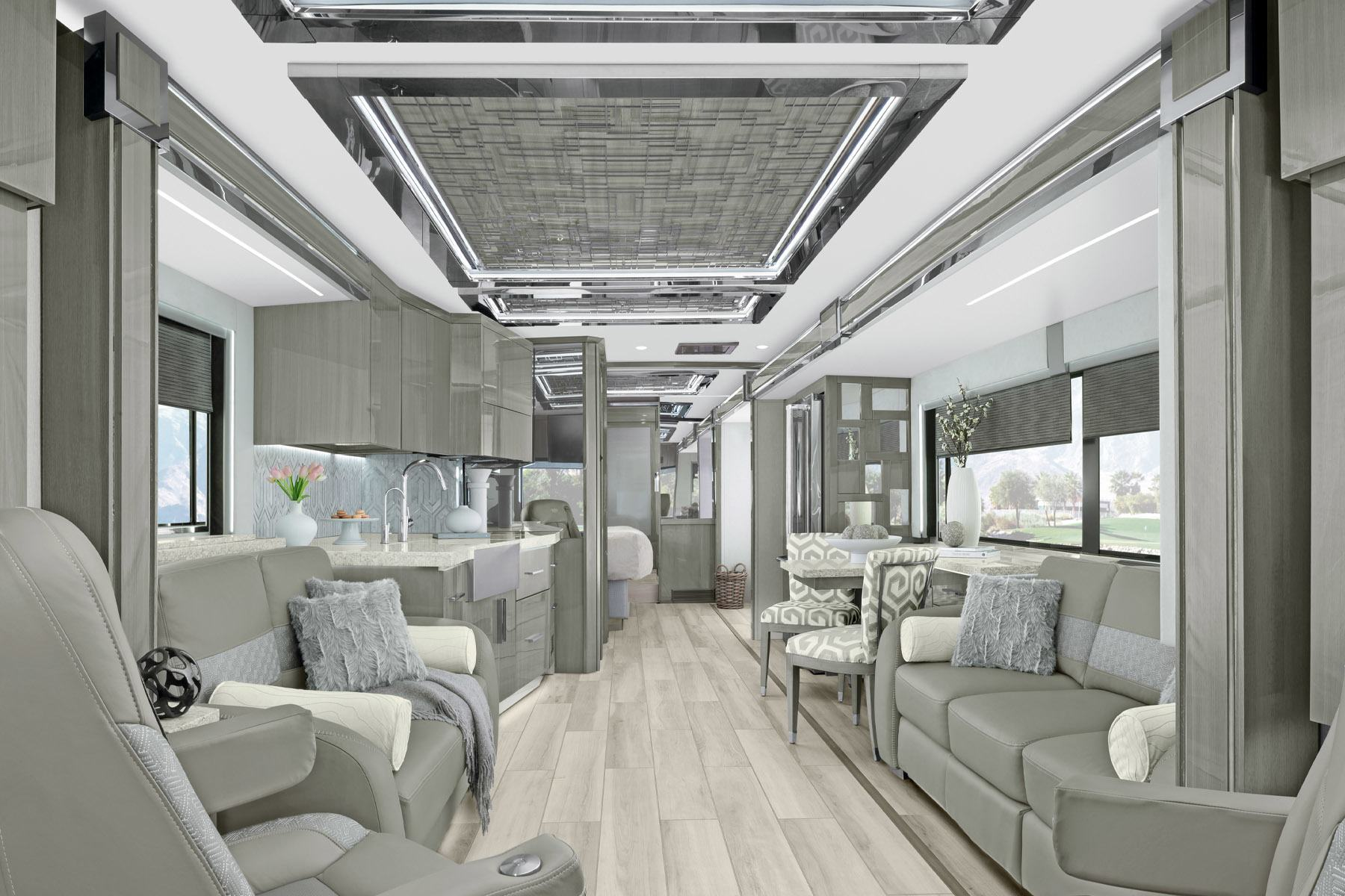 luxury living room of the newmar king aire